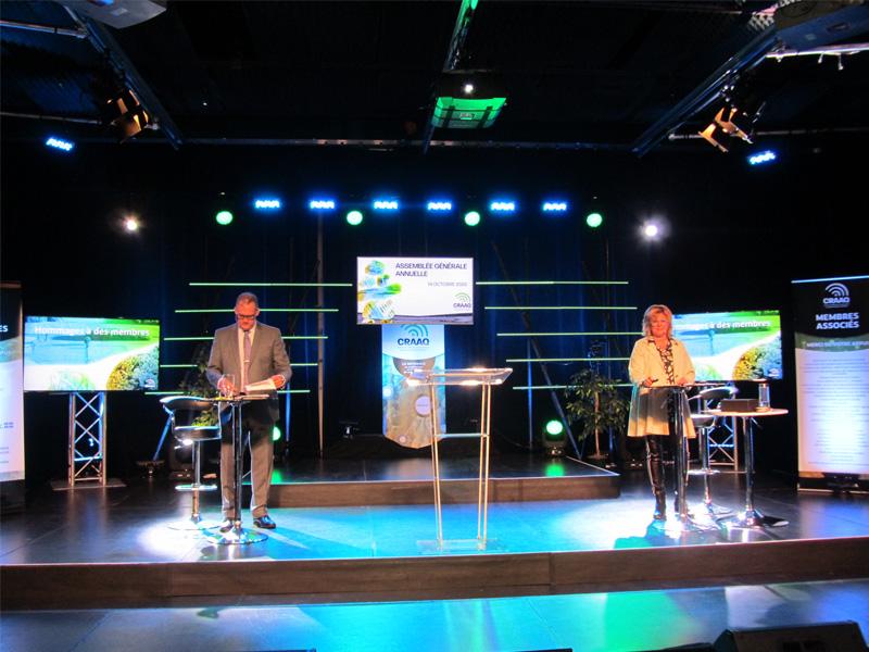 Brigitte Dumont et Martin Caron à l'AGA 2020