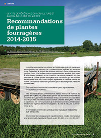 Recommandations de plantes fourragères 2014-2015